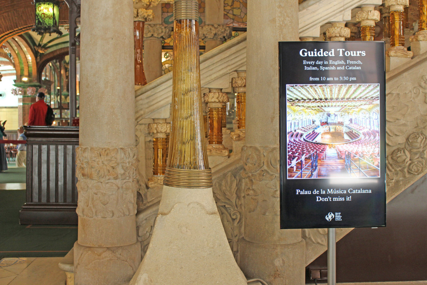 Monitores y software en el Palau de la Música Catalana