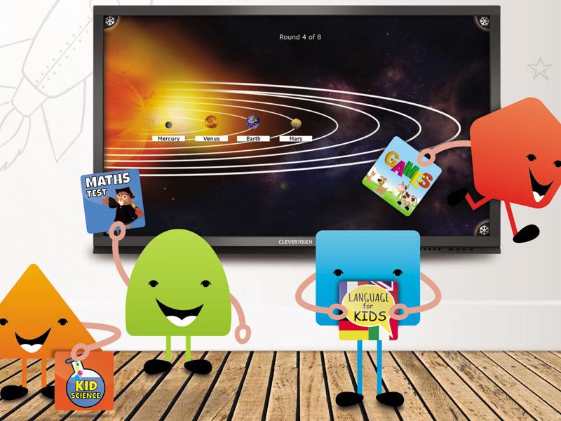 Clevertouch Plus: paneles táctiles interactivos Android para el aula y salas de reunión